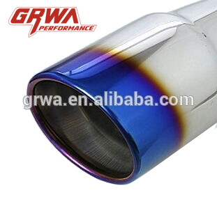 Car exhaust muffler tip dual outlet exhaust tip