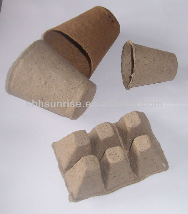 Eco friendly Biodegradable garden pot/paper flower pot/ pulp planter