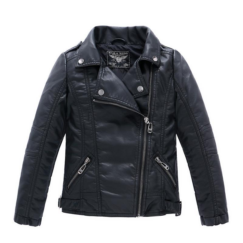 Baby girl leather jacket