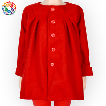 eaa7100cd2d Latest Design Solid Red Color Baby Girl Jackets Bulk Wholesale Little Girls  Casual Jacket Children Warm