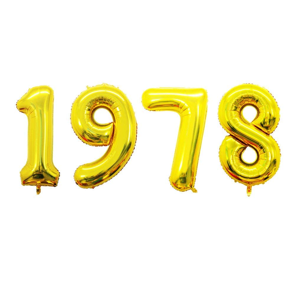 Get Quotations GOER 42 Inch Gold Number Balloons 1978Helium For 40th Anniversary And Birthday Gifts