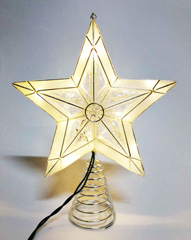 new amazing model christmas tree star topper ornament party decoration xmas decorations sparkle