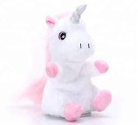 Pet Talking Back Unicorn Toys Repeats What You Say Electronic Pet Plush Toys for Boys and Girls and Birthday Present