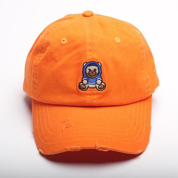cbf7b141 Orange Soft Baseball Caps With Custom Embroidered Logo Dad Hat ...