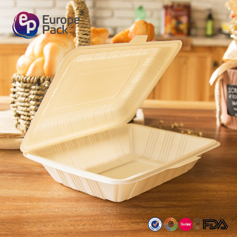 Factory direct corn starch material disposable biodegradable food box