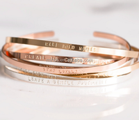 mantra band bracelet cuff personalized gold cuff bracelet bangle