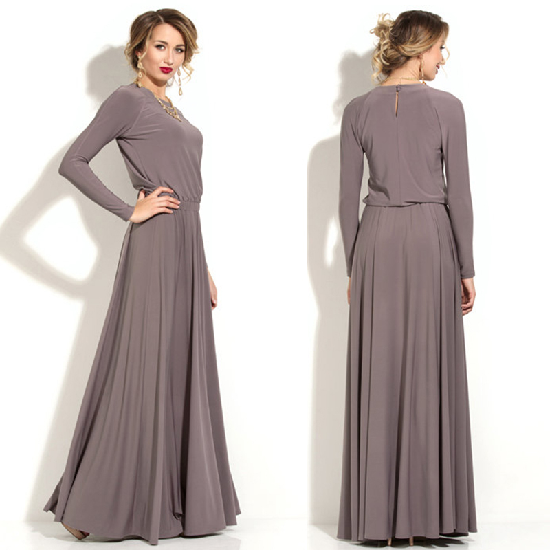 Simple Elegant 2015 Women Summer Wedding Dresses Flowing: Aliexpress.com : Buy Summer Gray Arabic Style Long Chiffon