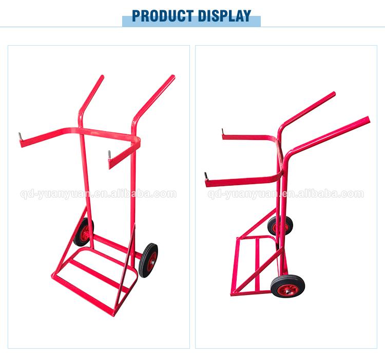 2 wiel industrie bussen medische gas cilinder materiaal handling winkelwagen hand trolley