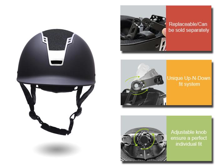 2019-Newest-stylish-Microfibre-suede-riding-helmet