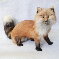 Custom design life size animal model real fox fur red fox model for decoration