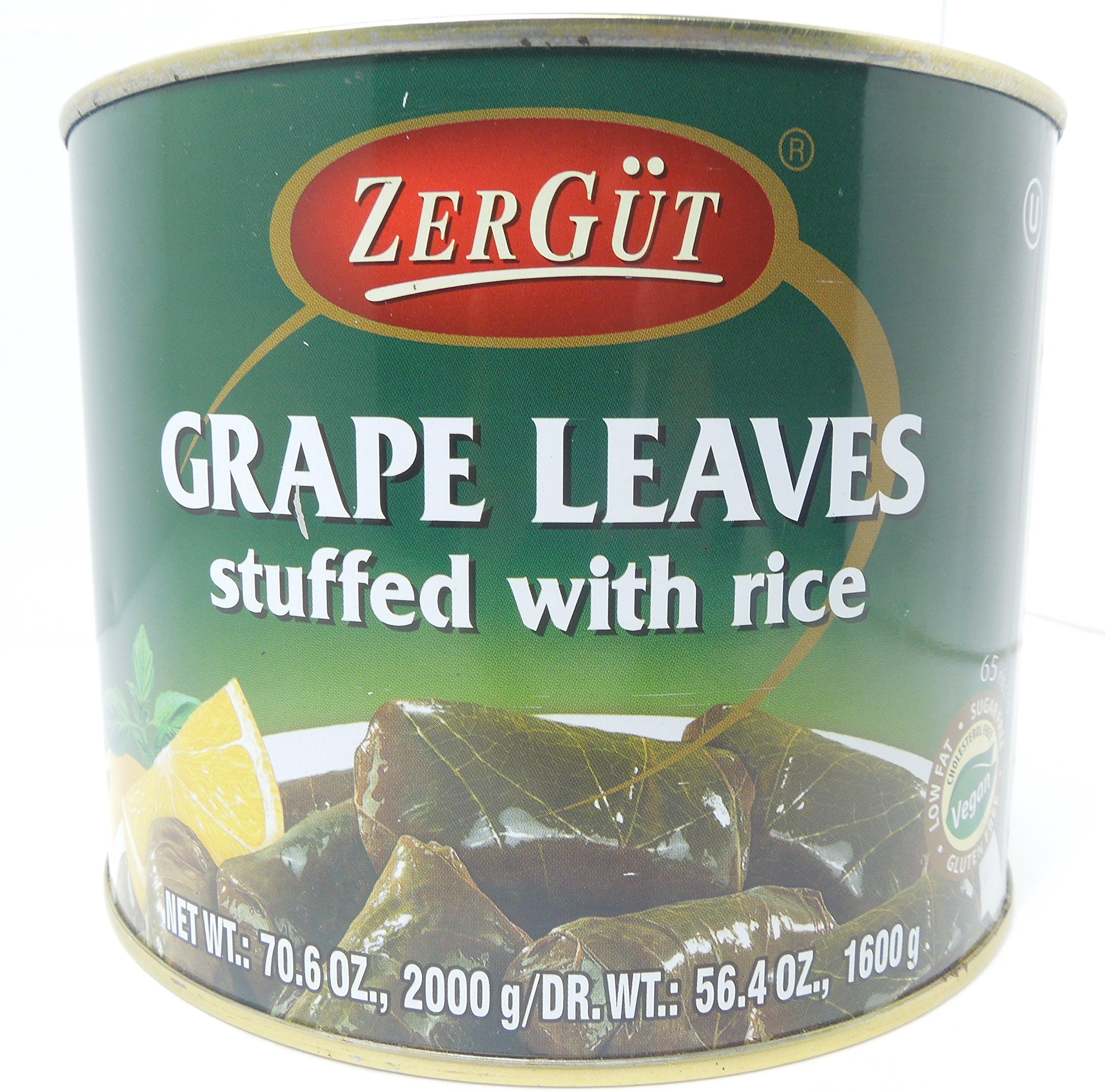 Zergut Stuffed Grape Leaves, Grape leaves stuffed with rice (56.4 Oz)