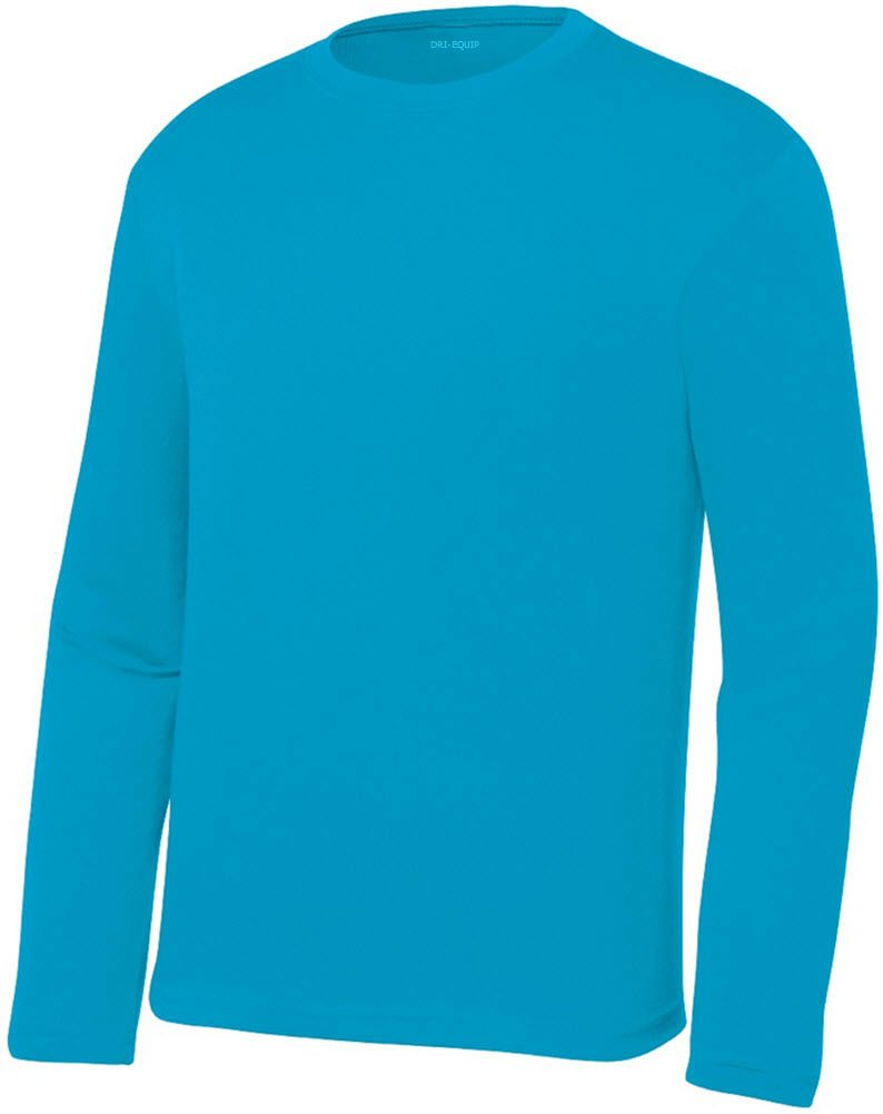 32bab29e24b9 Get Quotations · DRI-EQUIP Youth Long Sleeve Moisture Wicking Athletic  Shirts. Youth Sizes XS-XL