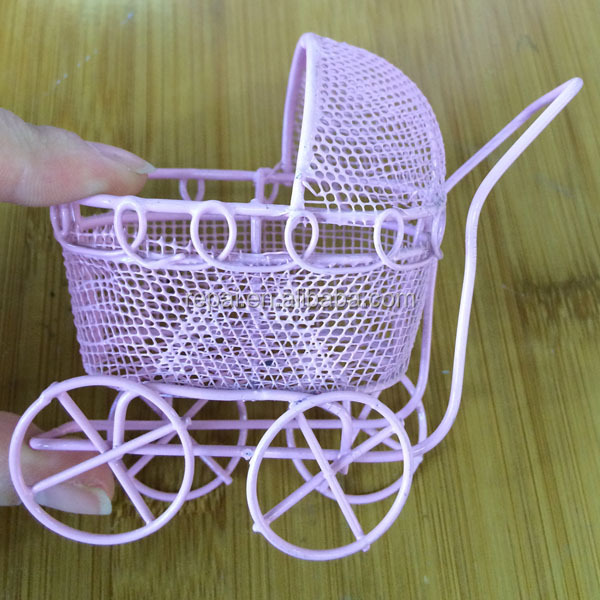 Best selling metal baby carriage candy box party favor wedding favor