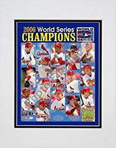 St Louis Cardinals 2006 World Series Champions Composite Double Matted 8 X