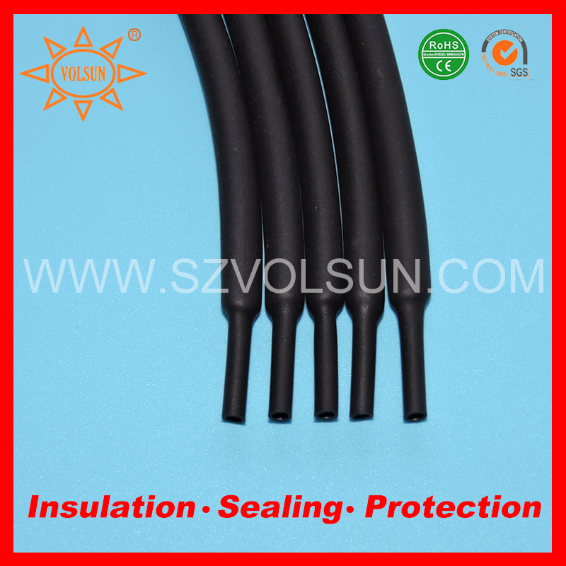 Black Heat Shrinkable Electrical Wire Insulation Sleeve