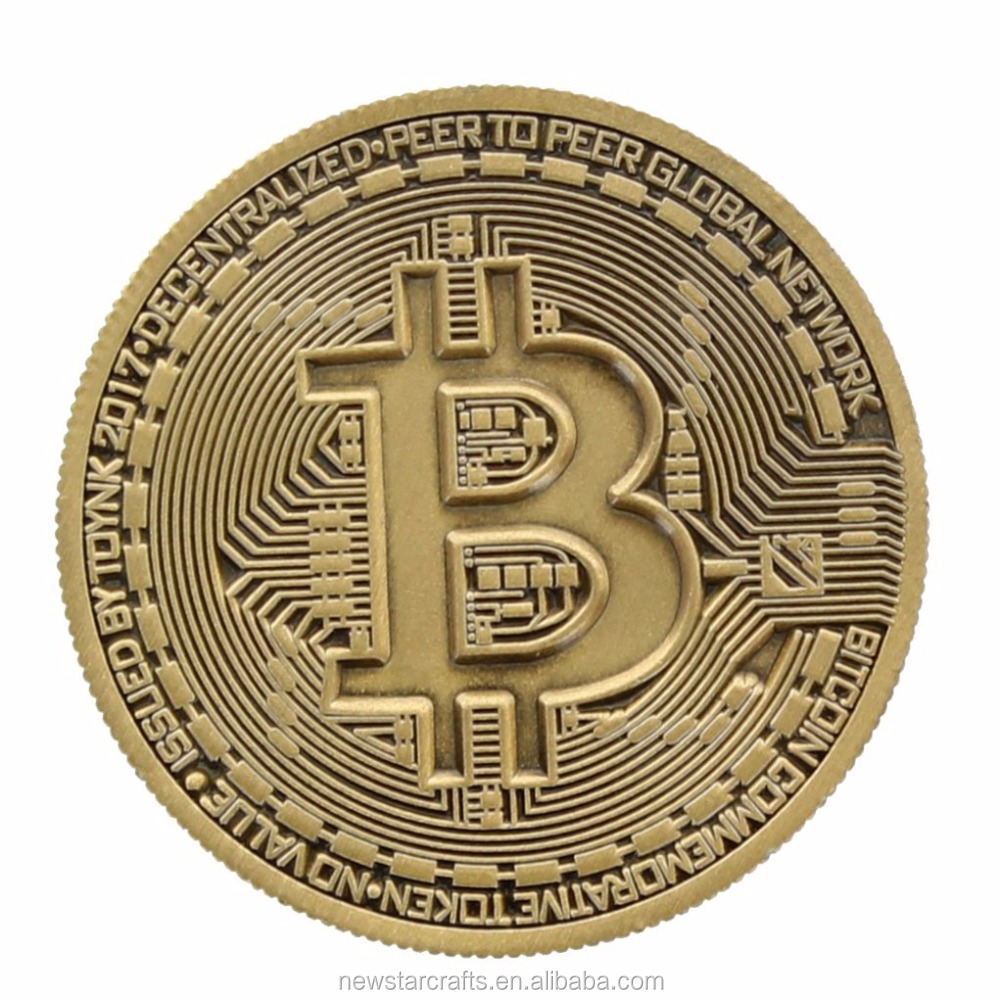 Bitcoin Antique Bronze Plated Commemorative Collector's Coin