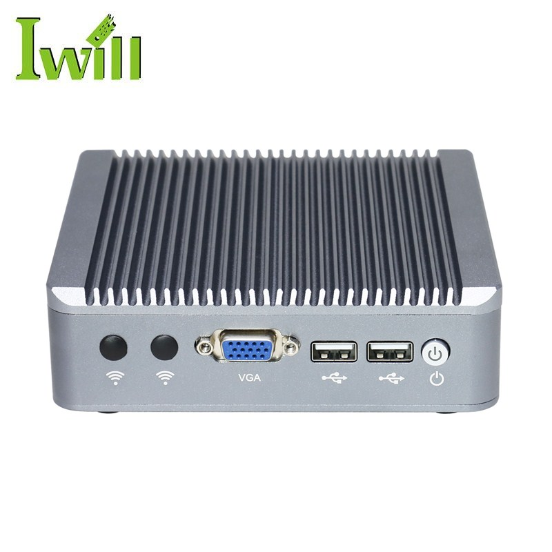 2 gigabit fanless mini pc Intel J1800 pfsense firewall support 1 LAN and 1 WAN