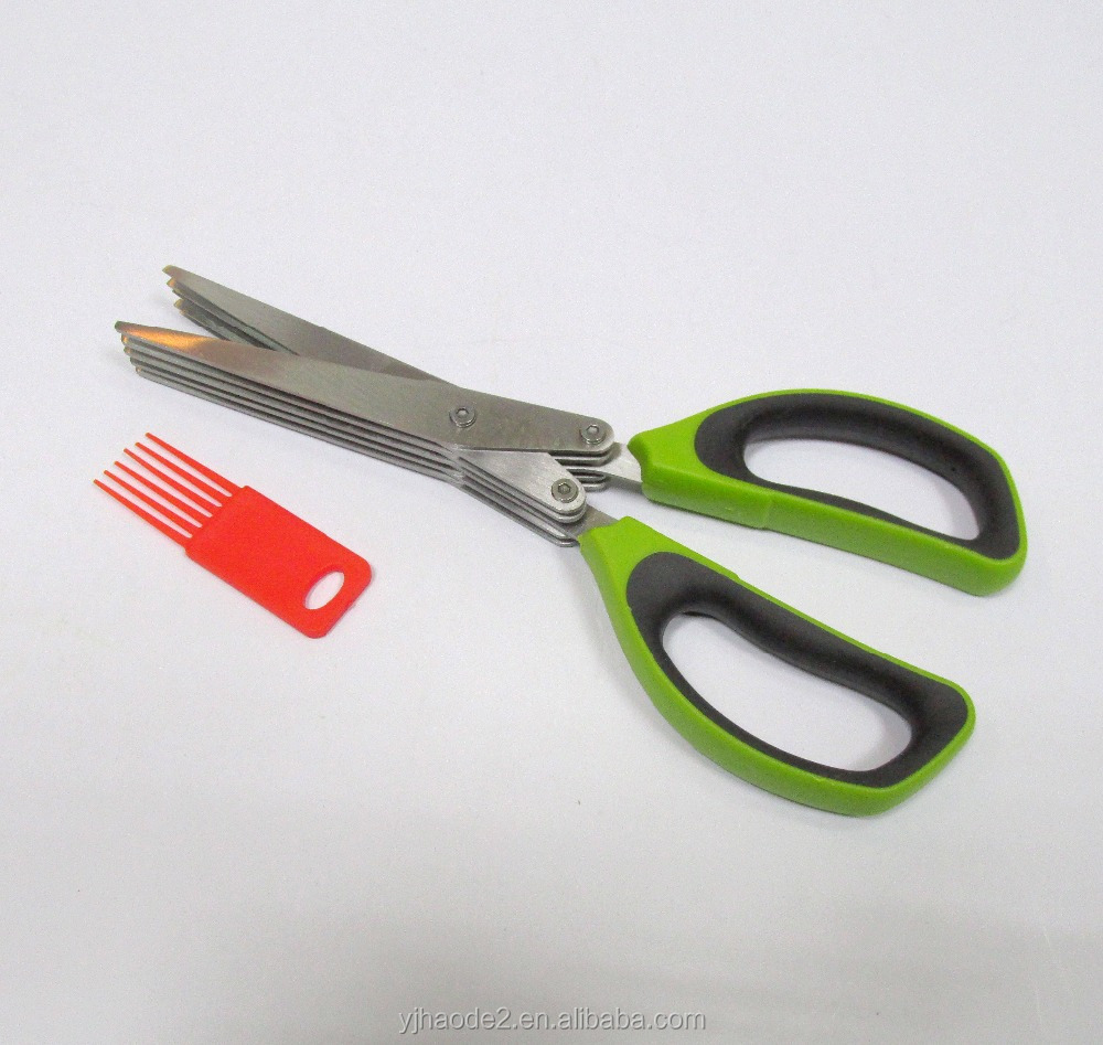 New Design High Quality Kitchen Herb Scissors with 5 Blades