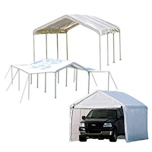 ShelterLogic MaxAP 3-in-1 Canopy with Enclosure and Extension Kits, White, 10 x 20 ft.