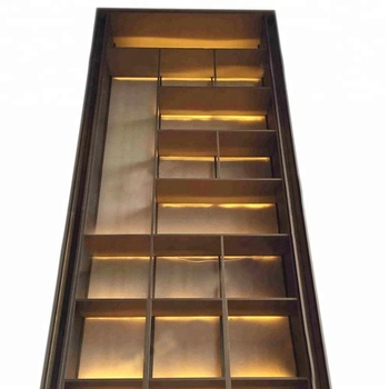 One-stop design custom OEM production decorative stainless steel wall cabinet living room display cabinets.