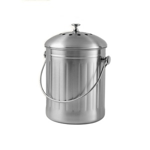 Customize stainless steel kitchen compost bin 1.3 gallon indoor home compost bin