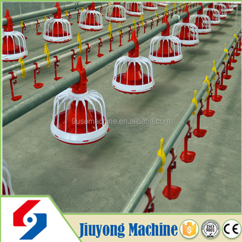 Chicken House Equipment Automatic Chicken Feeder Poultry Pan Automatic Chicken Feeder for Broiler Poultry Drinking Line System