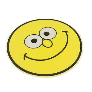 High quality customized smile face sticker,full color cartoon emoji sticker