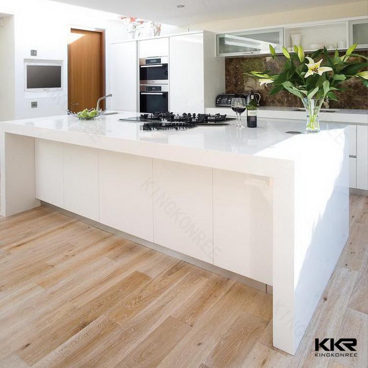 Gekweekte marmeren geprefabriceerde bar werkbladen, keuken eiland ...