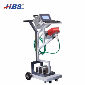 Portable Electric dot peen marking machine for all kinds metals with trolley moveable