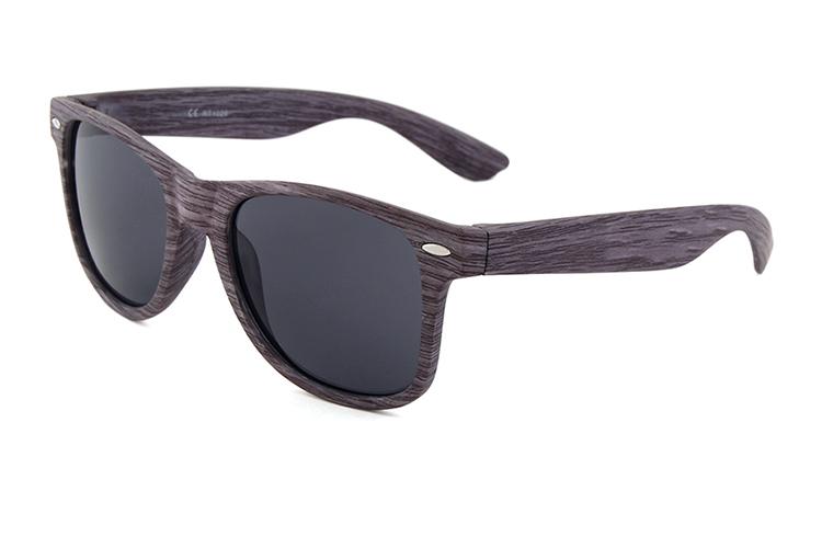 1666cd9879 Retro Vintage imitación madera grano gafas de sol para los hombres sombras  oscuras gafas