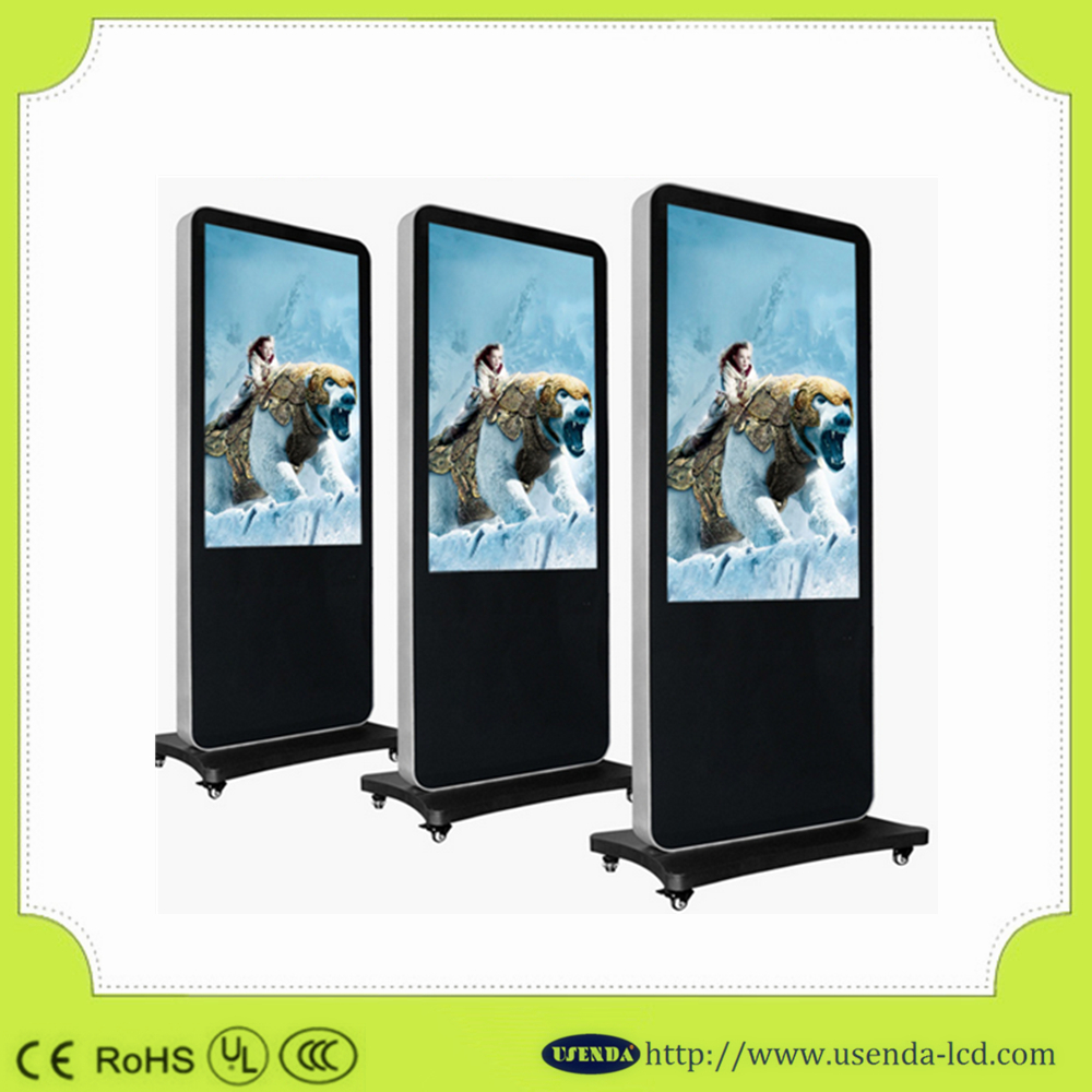 "55"" Floor-standing touch digital advertising monitor/totem display/digital signage android 4.4"