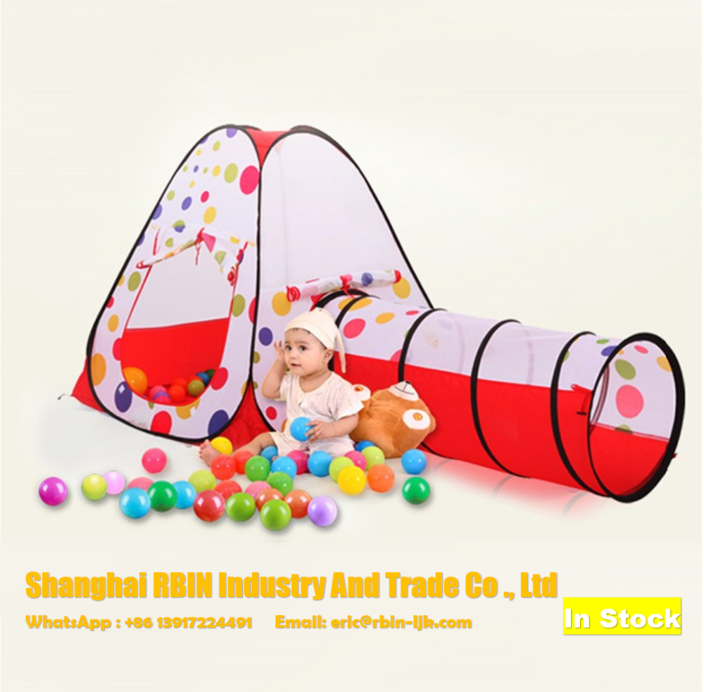 3 In 1 Portable children play tent kids playing Ball Pool Foldable tunnel House Indoor Outdoor Toys