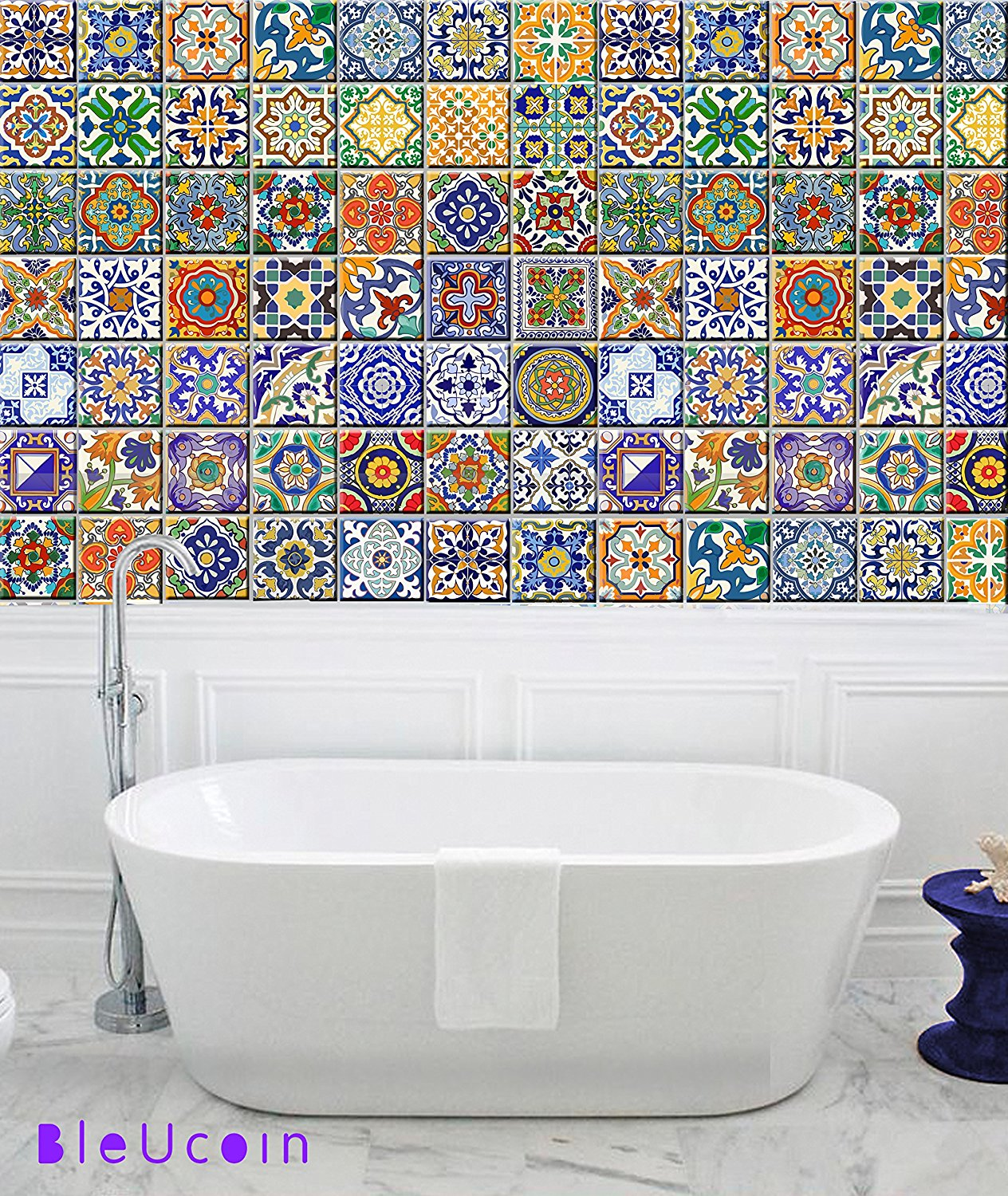 Buy Spanish Mediterranean Talavera Tile Stickers Wall Stickers ...