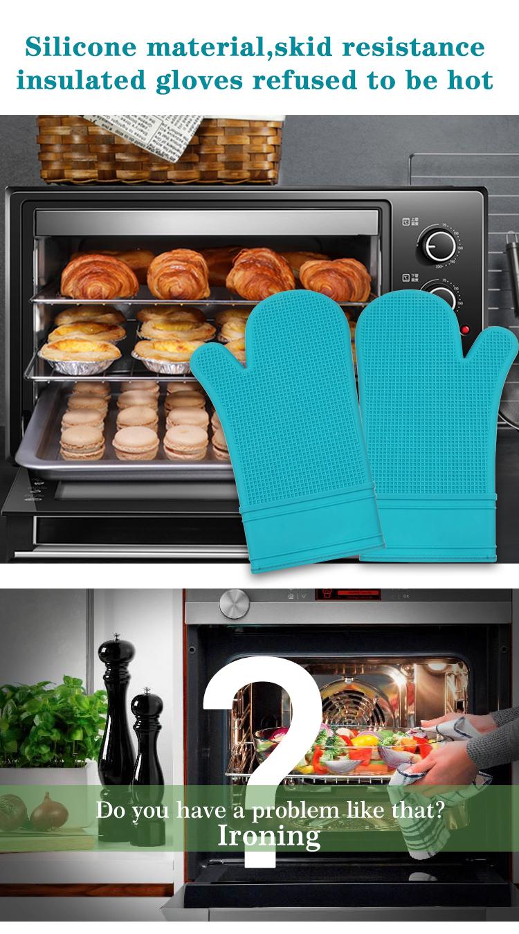 Hot koop custom siliconen warmte-isolatie magnetron handschoenen