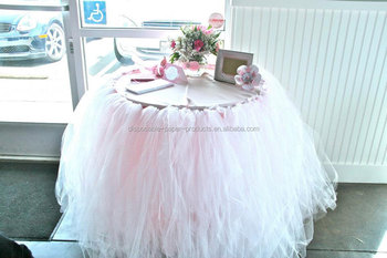 how to make a round tulle table skirt