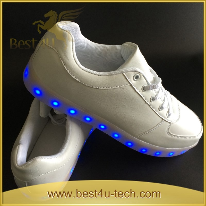 Faddish Casual Rechargeable Sport LED Shoes EU Big Sizes Street LED Dancing Shoes