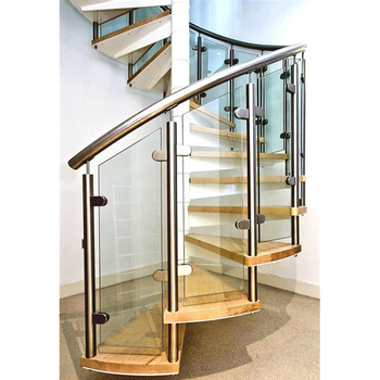 Hot Sale Steel Curved Glass Staircase