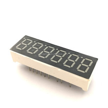 Ultra white ,red 0.36 inch 6 digit tube LED Common Cathode/Anode 7 segment led display