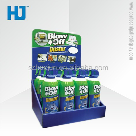 Small Cardboard Counter Display Stands,Retail Duster Cardboard Counter Display Box