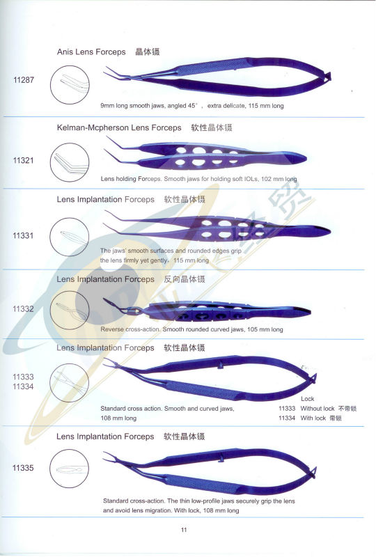 Lens Implantation Forceps Titanium eye instruments
