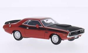 Dodge Challenger T/A, red/black, 1970, Model Car, Ready-made, BoS-Models 1:43