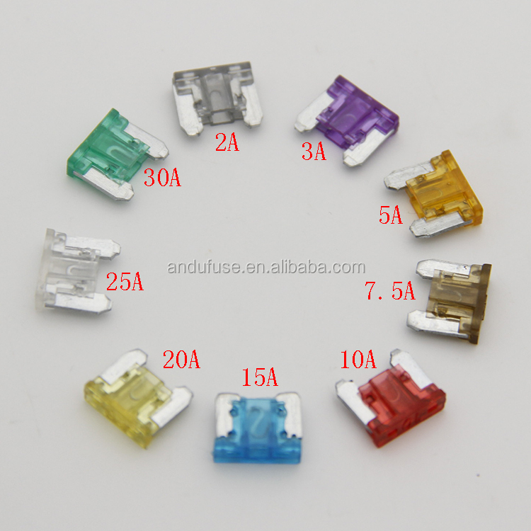Pack of 5 Micro Blade Fuse 10A Amps Car Fuses Mini Low Profile Car