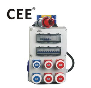 CEE IP67 industrial mcb box socket box electrical distribution box