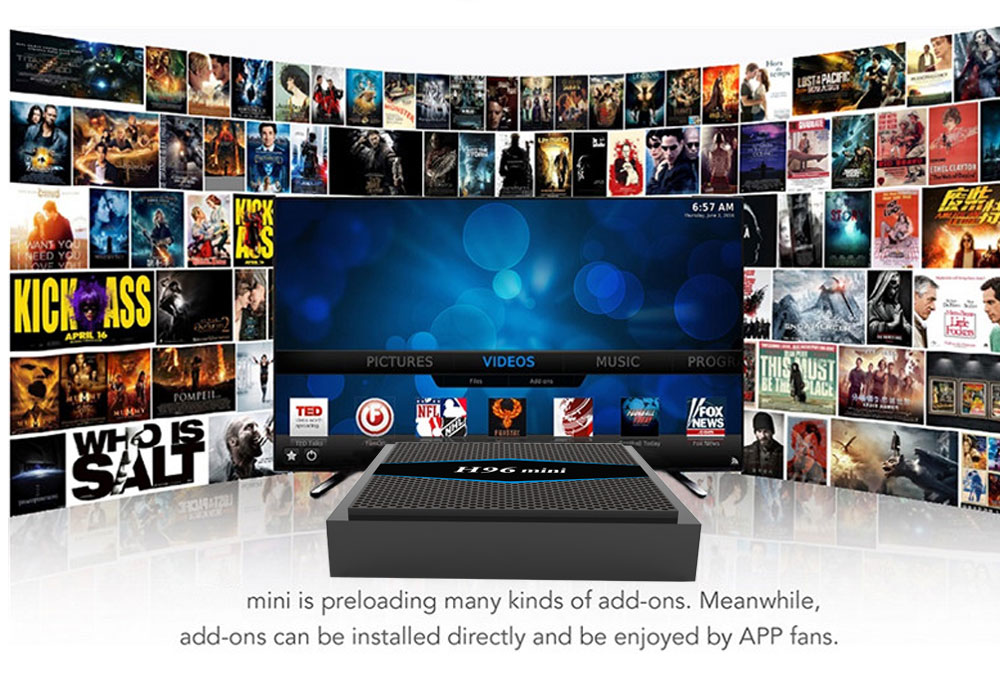 Smart home hd streaming video google certificated android7.1 tv box H96mini