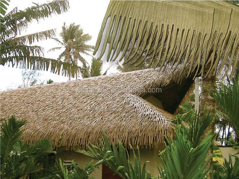 Sunshade Parasol Palm Leaf Thatch Umbrella