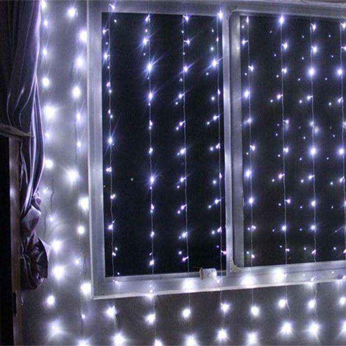 nol vacances lumire pour la dcoration led lumire rideau mur led rideau de lumire - Voilage Mur Mariage