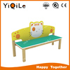 Lovely cat design kids wooden bench for park
