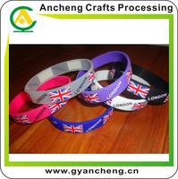 free design fashion health diabetes silicone bracelets for gift