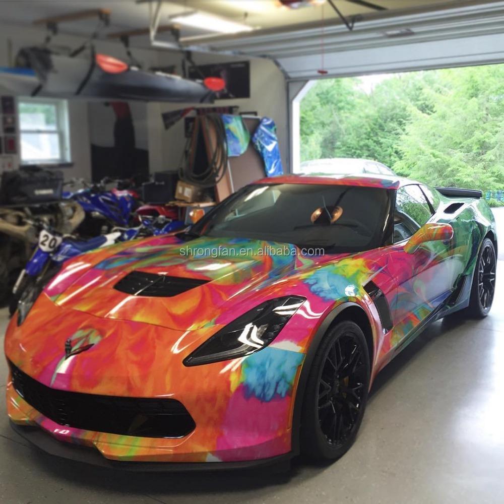 Custom glossy candy colored car full body wrap paper vinyl sticker