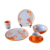 China supplier Asia characteristics flower print freestyle dinner set